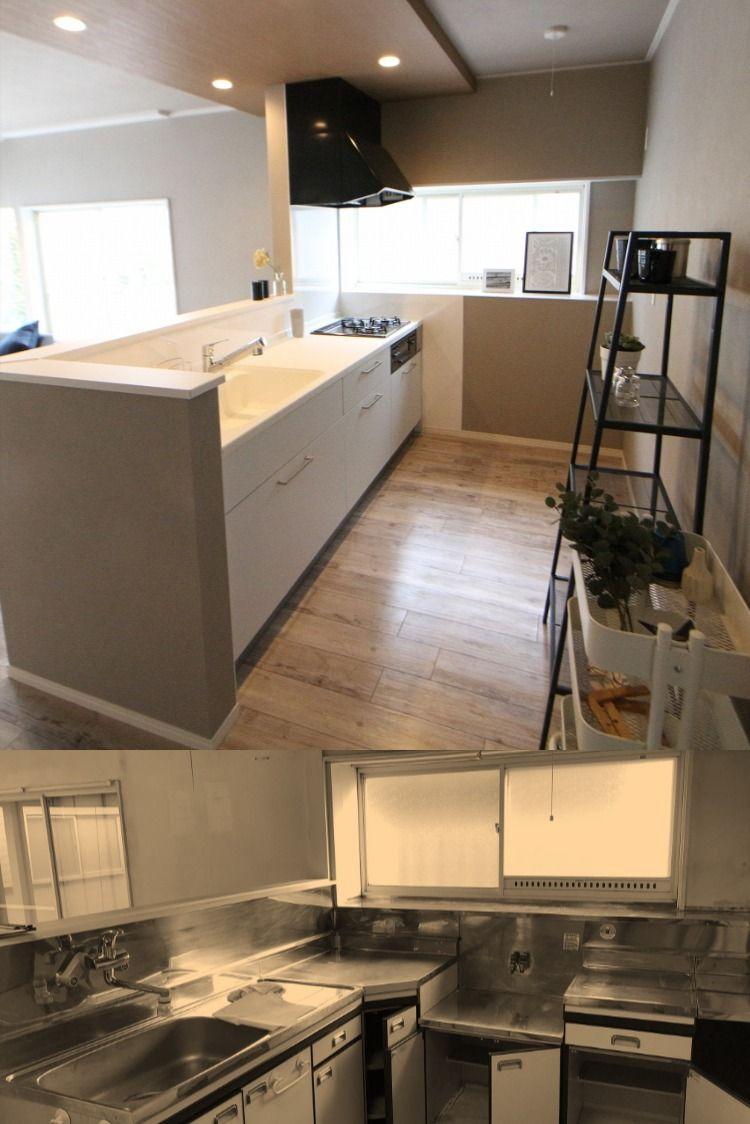 吊戸棚を無くして開放感のあるキッチンスペースにリフォーム キッチンはトクラスbbを採用しました お手入れ簡単な人造大理石カウンター シンクでいつまでもキレイが続きます グッドリフォーム湘南 リフォーム リノベーション 戸建 マンション キッチン