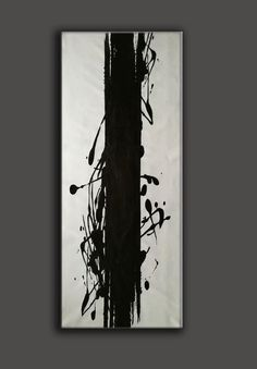 Black white oil painting modern abstract paintings