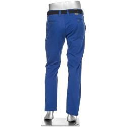 Alberto Herren Chinohose Lou, Regular Slim Fit, Baumwolle, royal blau Alberto