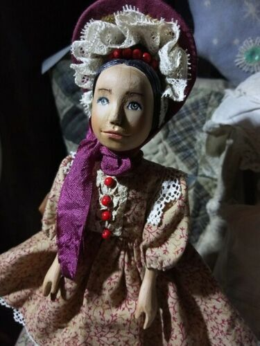 Beautiful carved wood Hitty doll in vintage style 6.5(16.5cm) #dollvictoriandressstyles Beautiful carved wood Hitty doll in vintage style 6.5(16.5cm)   eBay #dollvictoriandressstyles