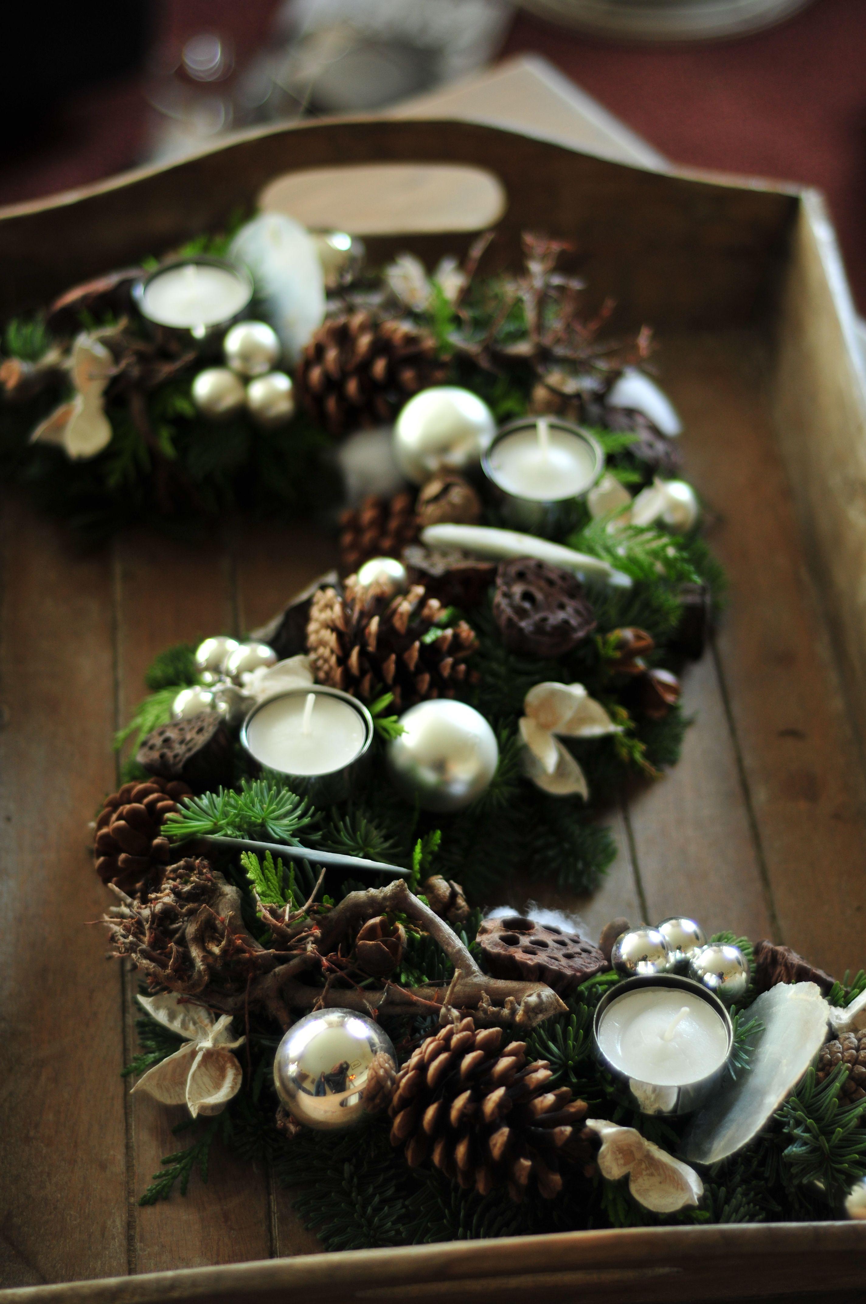 Festliches tablett weihnachten weihnachten weihnachtsdekoration en dekoration - Weihnachtsdekoration basteln mit kindern ...
