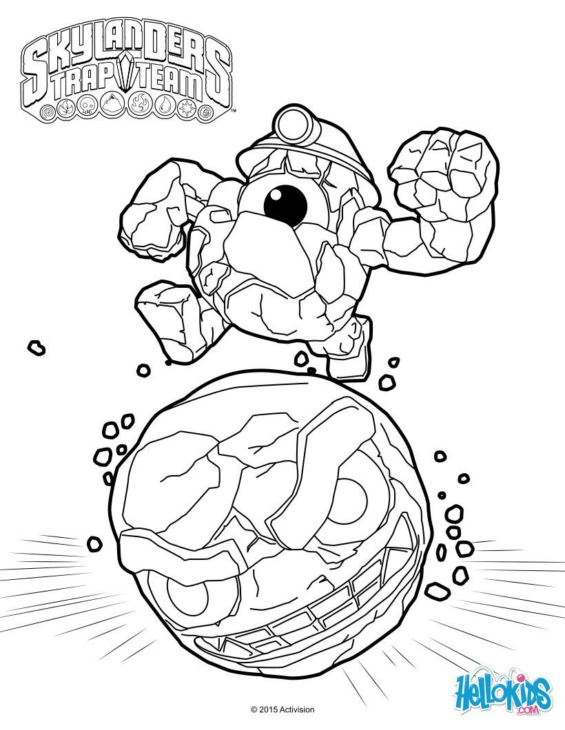Rocky Roll Coloring Page From Skylanders Video Game More