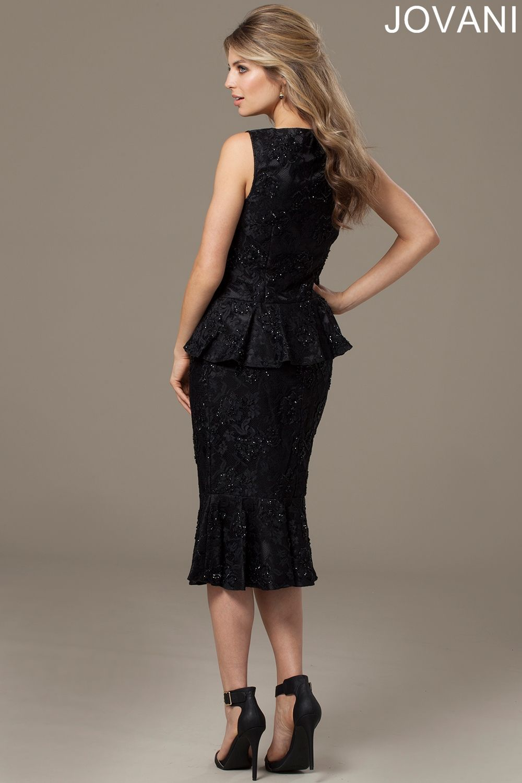 Jovani 984 Evening Dress Beaded Lace Peplum