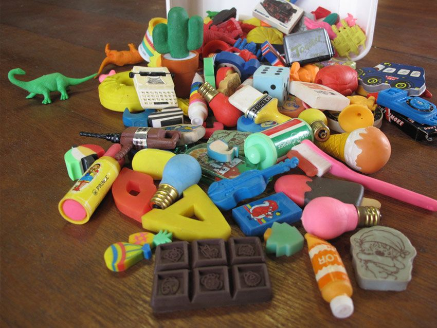 novelty erasers could not get enough of them