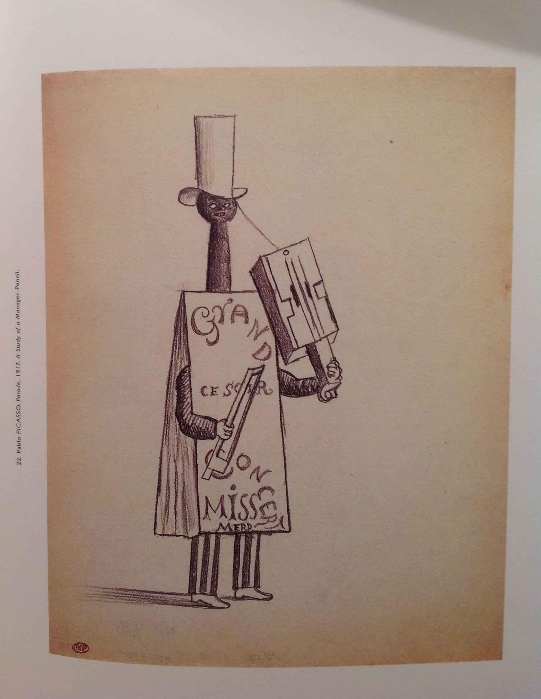 Pablo PICASSO Parade 1917 A Study of a Manager Pencil