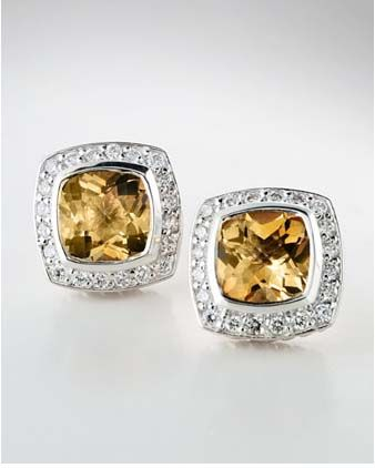 David Yurman Claine Drop Earrings With Citrine And Diamo Bag Amazing I Want These So Badly Oneday Wish List Pinterest