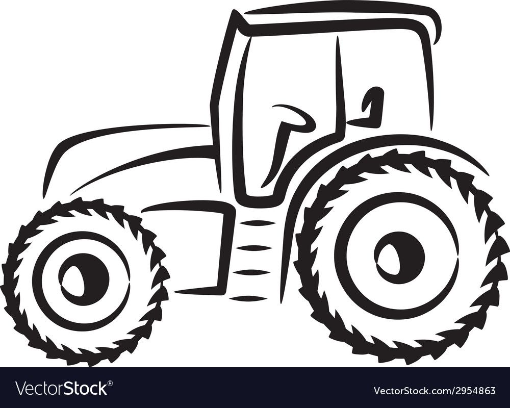10+ Tractor Clipart Black And White