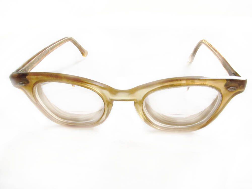 Ladies eyeglasses leading lady by art craft peach for Art craft eyeglasses vintage