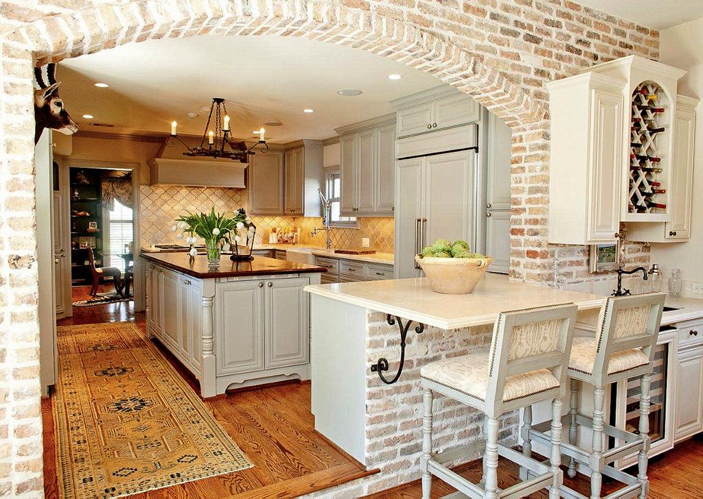 Favorite Pins Friday Beneath My Heart Brick Kitchen Home Home Kitchens