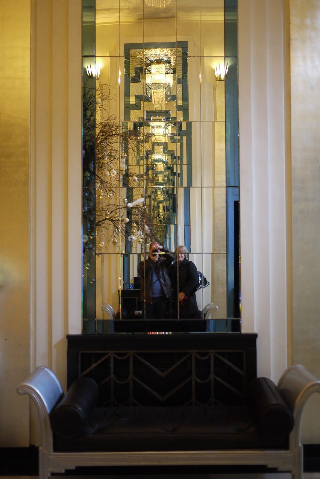 art deco pilasters | walking in the country | art deco interiors