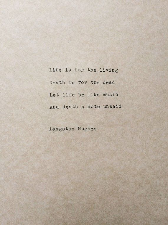 Hey, I found this really awesome Etsy listing at https://www.etsy.com/listing/207973539/langston-hughes-typewriter-poem-life-and