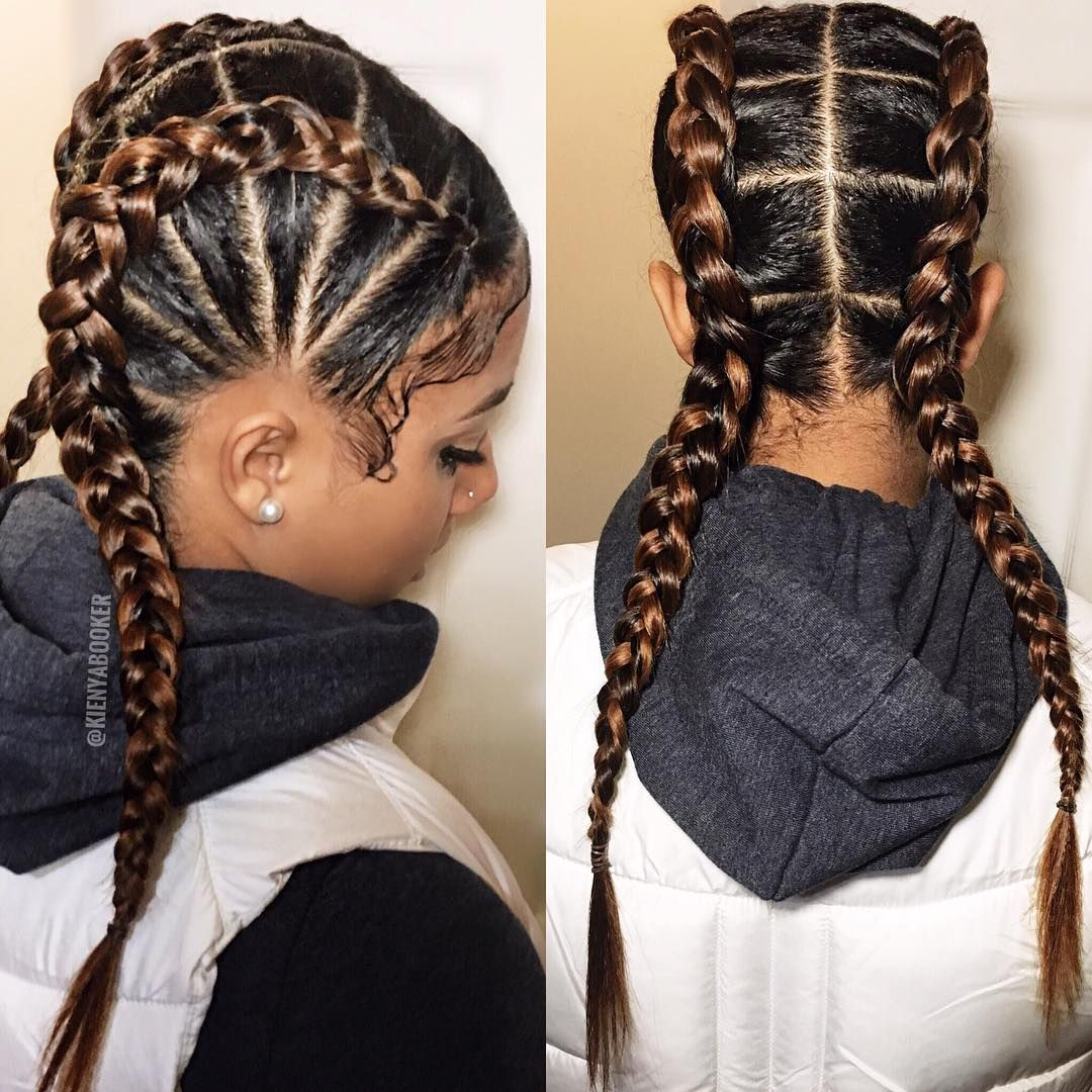 2 373 Likes 30 Comments Kienya Booker Kienyabooker On Instagram Backview Kaay S Girls Hairstyles Braids Mixed Girl Hairstyles Natural Hair Styles