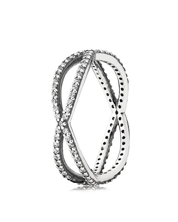 40731ddd20b18 Pandora's criss-cross ring begs to be worn solo or stacked up for ...