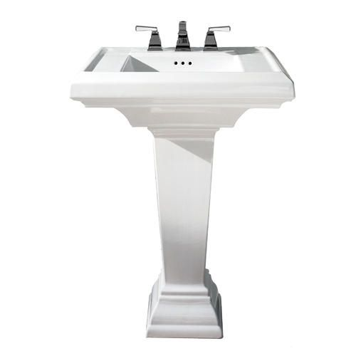 Town Square 24 Pedestal Lavatory With Pedestal Leg 8 Cc Pedestal Sink Square Bathroom Sink Sink