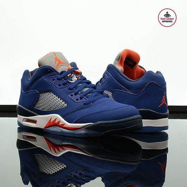 ab0619f6e848 The Air  Jordan 5 Retro Low  Deep Royal Blue  arrives in stores and online  Monday. Release Details  footlocker.com launch