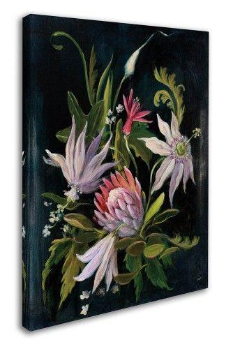 Julia Purinton 'Flower Show I' Canvas Art (35 in. W x 47 in. H), White