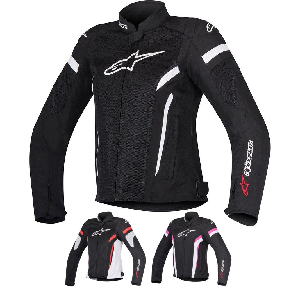 ALPINESTARS 2017 JAWS Perforated Leather Sport Riding Jacket Choose Size Black