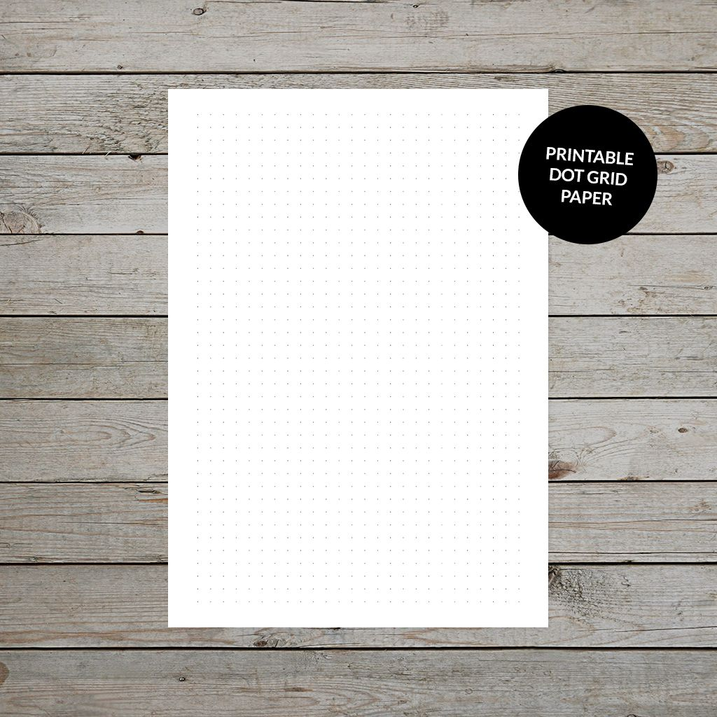 image about A5 Dot Grid Printable titled Free of charge Printable Dot Grid Paper For Bullet Journaling bullet