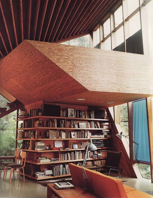 Great Ceiling And Asymmetrical Loft House Home John Lautner