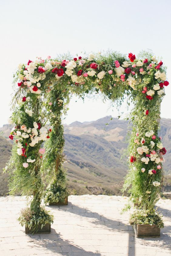 California Chic: http://www.stylemepretty.com/2015/07/17/26-floral-arches-that-will-make-you-say-i-do/: