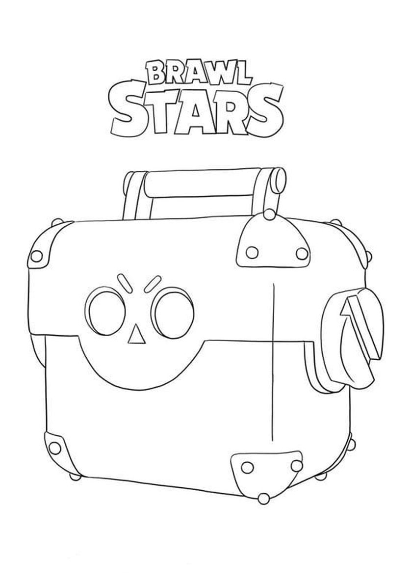 Chest High Quality Free Coloring Page From The Category Brawl Stars More Printable Pictures On Our Website Bab Star Coloring Pages Blow Stars Boy Coloring