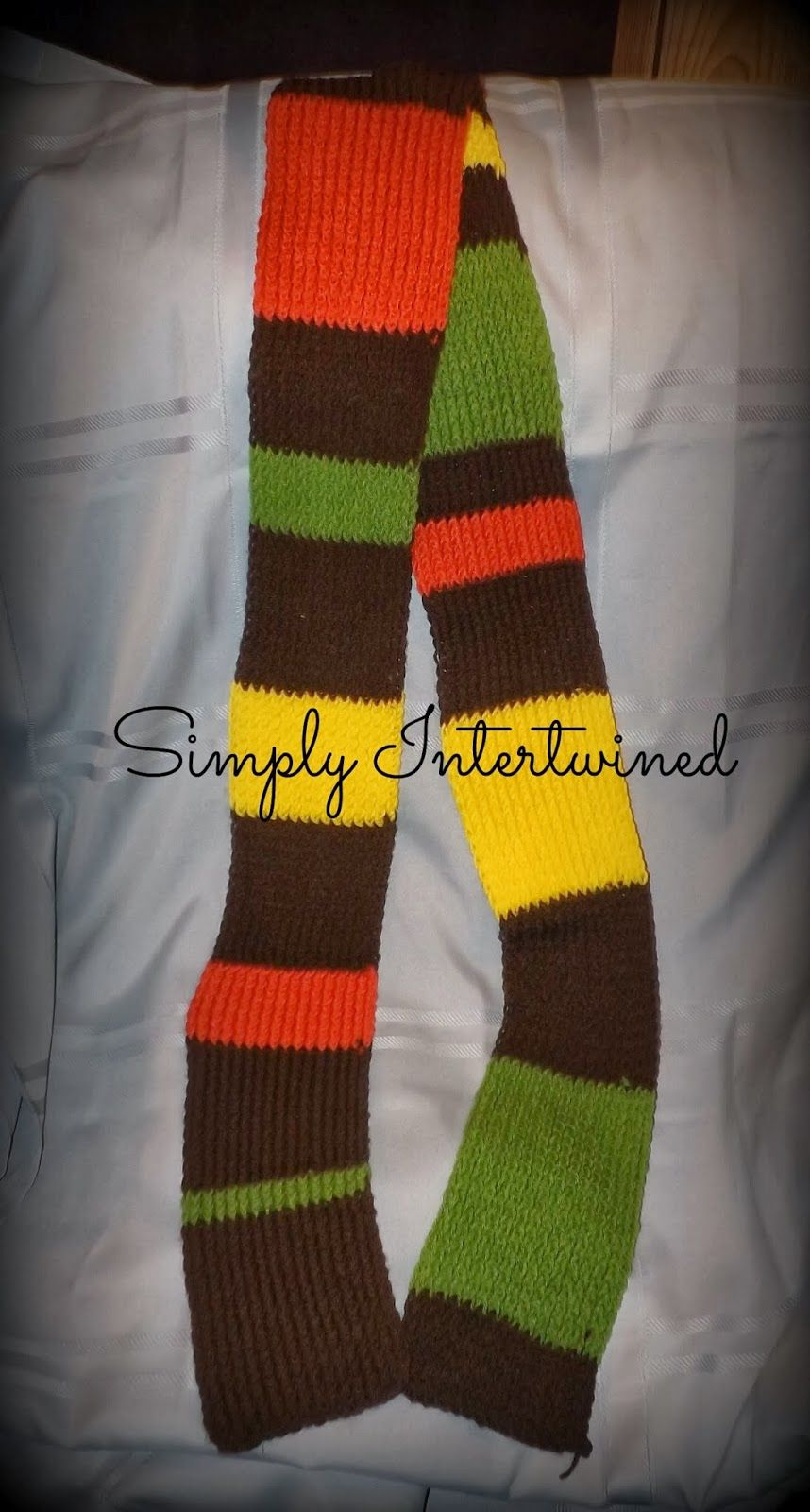 My Doctor Who Inspired Scarf Rough Pattern Free Loom Knit