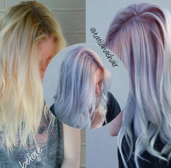 Tatiana Silvestri Russian On Instagram Aquametallic Obsession Formula 8vm With Inch Of Violet Booster On The R Hair Color Formulas Rachel Hair Magenta Hair