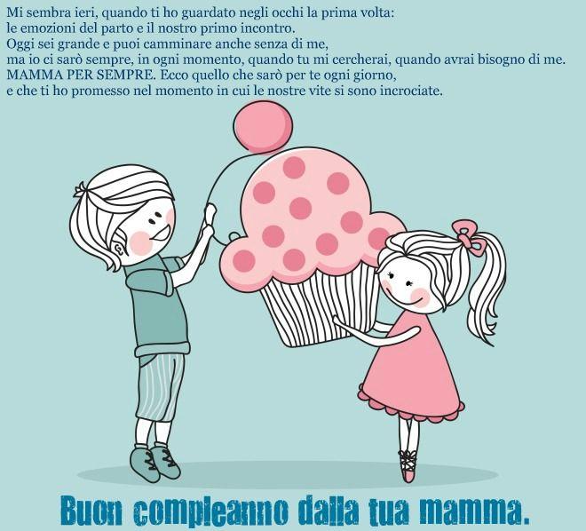 frase compleanno figli mamma per sempre | Urodzinki