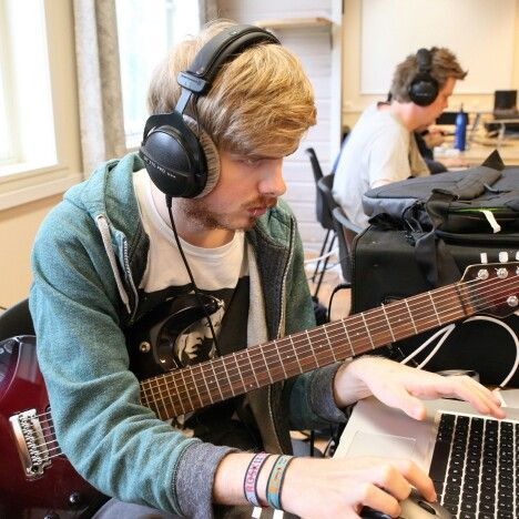 Musikkproduksjon på Sunnhordland folkehøgskule