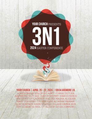 Gods Word Speaks Truth Bible Sermon Powerpoint Template  Flyer