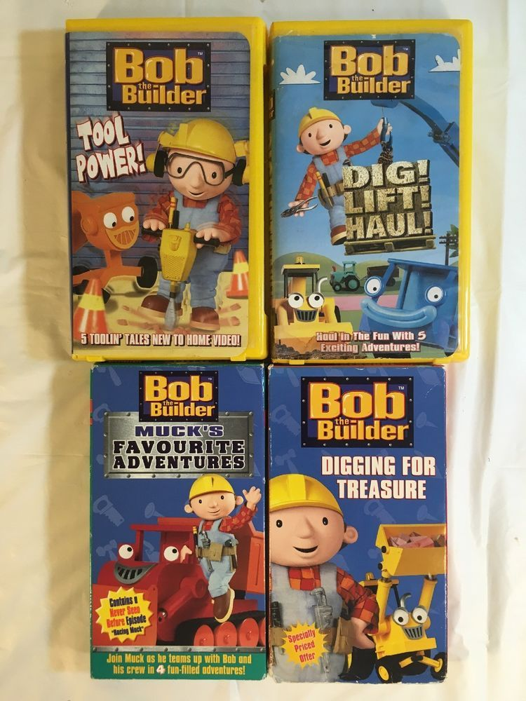 Bob The Builder Vhs Lot Of 4 Tool Power Digging For Treasure