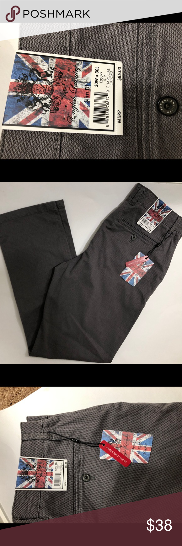 English Laundry Mens Paddington Fit 30 W 30 L Brand New With Tags