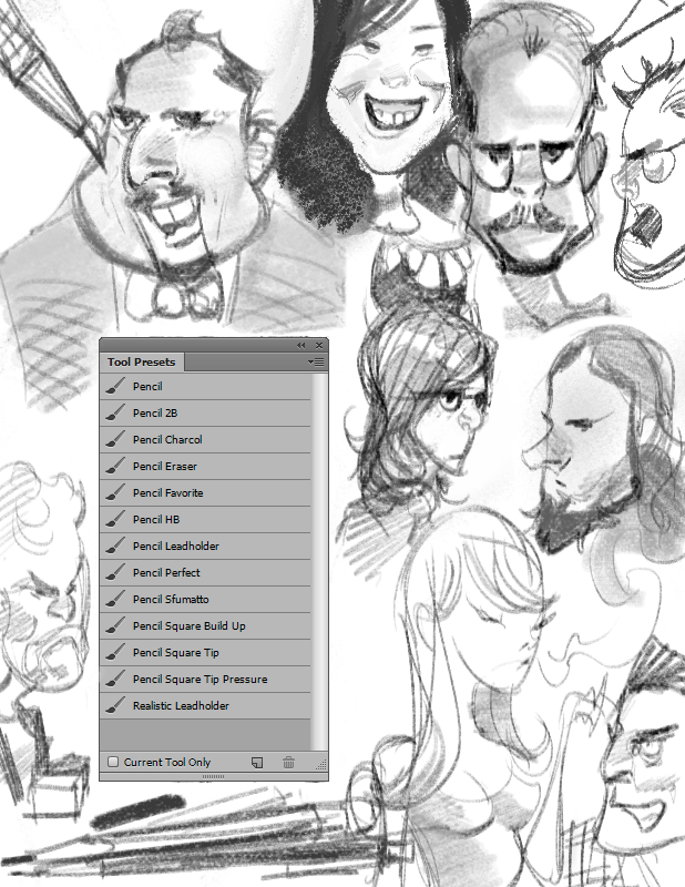 photoshop cs1 cc pencil brushes tool presets by beroleagle for use with the new tablet