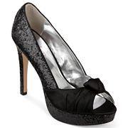 6a1ec1afecef Nine   Co.® Ishana Glitter Peep-Toe Pumps