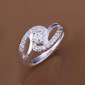 MINT 925 Silver Diamond Gimmel Ring