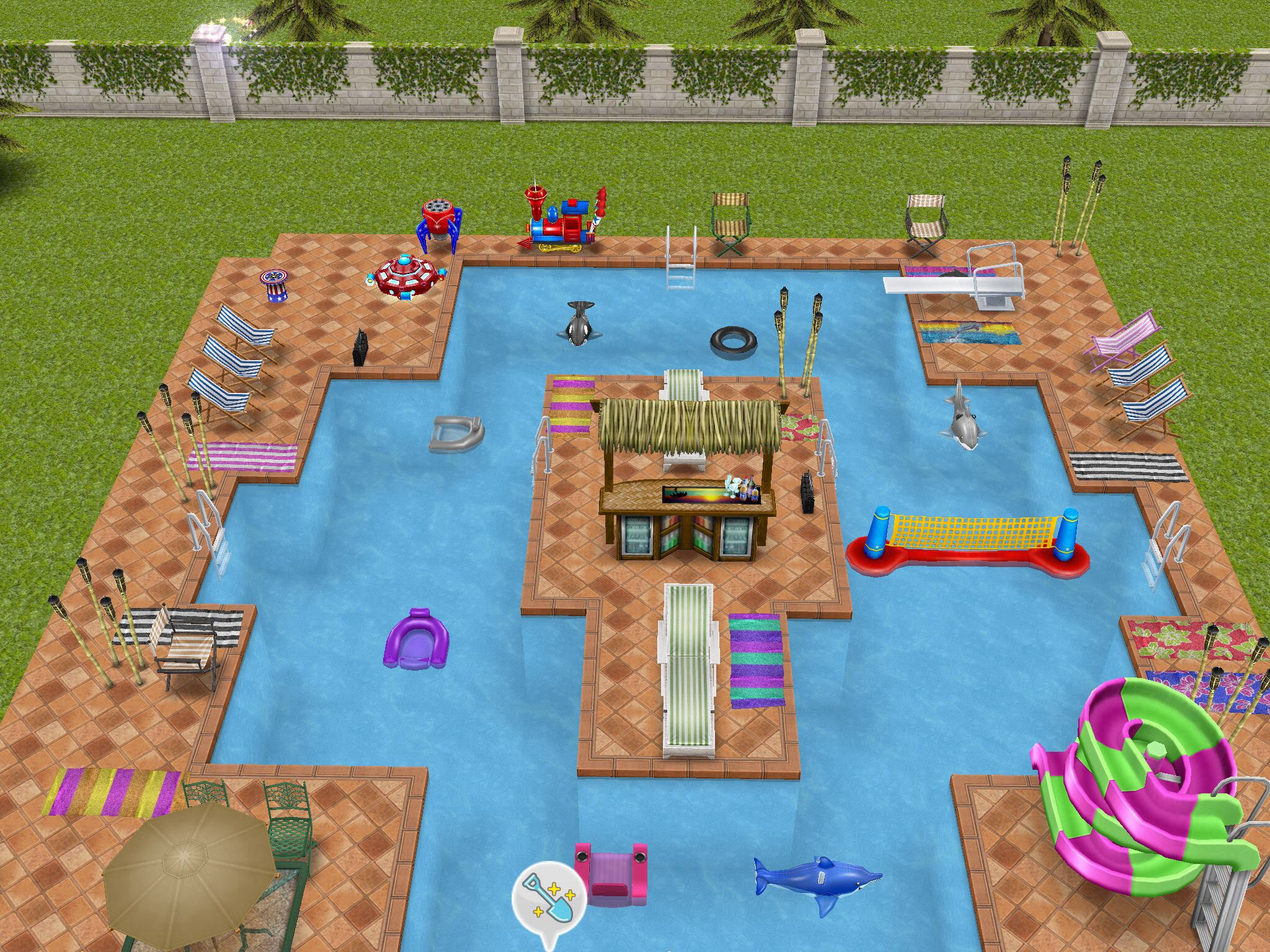 My teen idol mansion pool sims pinterest mansion for Pool design sims 4
