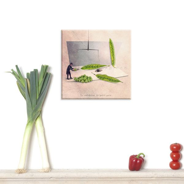 canvas art photography canvas canvas print green kitchen decor Still life Pea Mint green Green decor Vegetable gardening Kitchen (65.00 EUR) by PhotographyDream