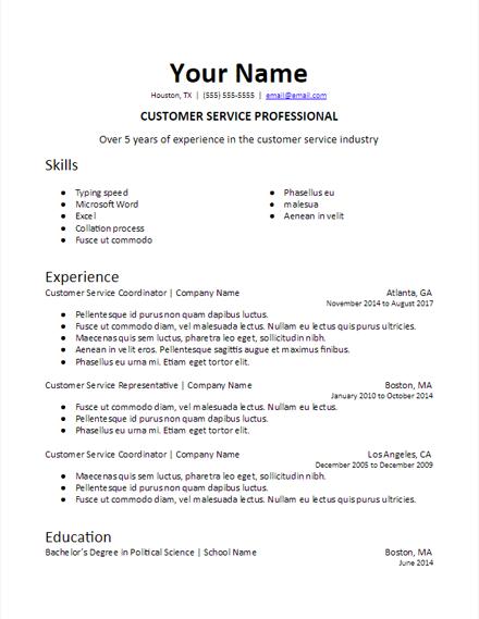 Resume Format With Skills Resumeformat Resume Skills Best Resume Format Resume Template Free