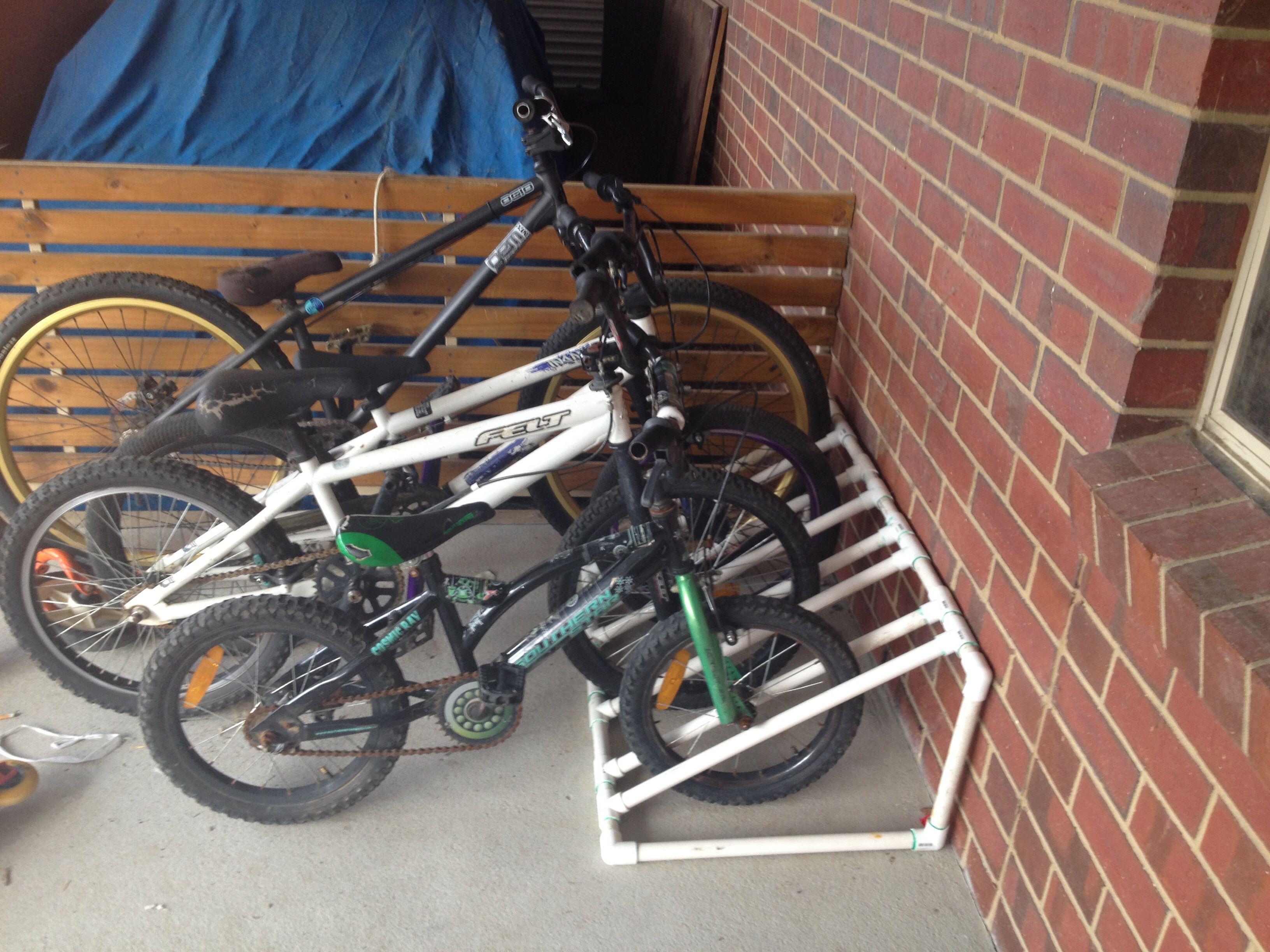 full rack to ideas of bike storage pvc garage hang archived hanger racks mounted holder size bicycle how wall on for