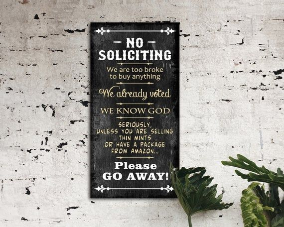 No Soliciting Wood Sign, Funny Sign, Wood Sign, Printable Wall Art, Wood Signs, Digital Art, Outdoo #nosolicitingsignfunny No Soliciting Wood Sign, Funny Sign, Wood Sign, Printable Wall Art, Wood Signs, Digital Art, Outdoo