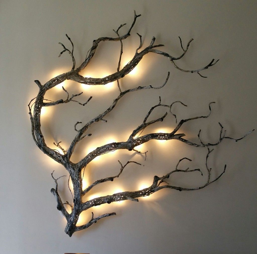 Add Back Light To An Interesting Shaped Branch For Wall