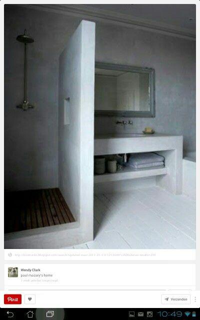 Badkamer idee | Badkamer | Pinterest | Bath, Interiors and House