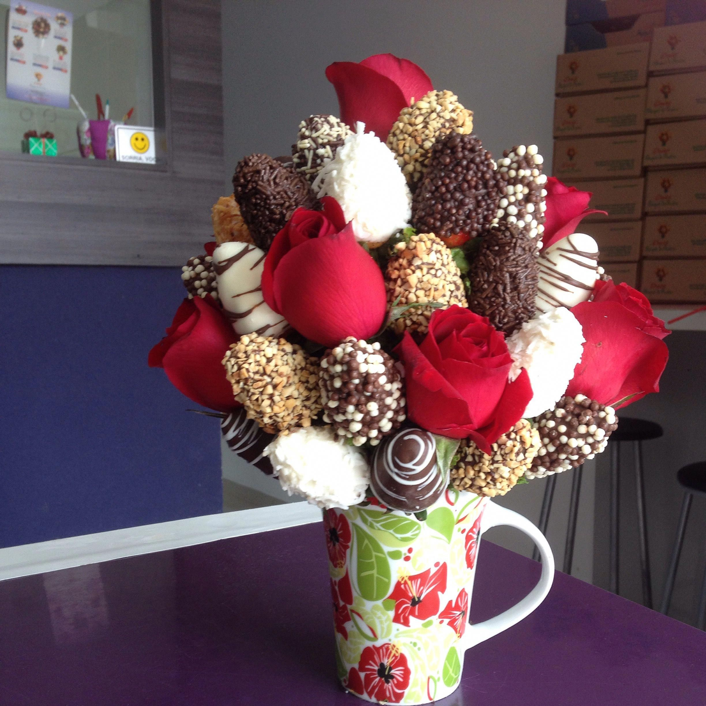 Hot Chocolate And Whipped Cream With Coconut Clean Eating Snacks Recipe Edible Fruit Arrangements Chocolate Strawberries Bouquet Chocolate Covered Strawberries Bouquet
