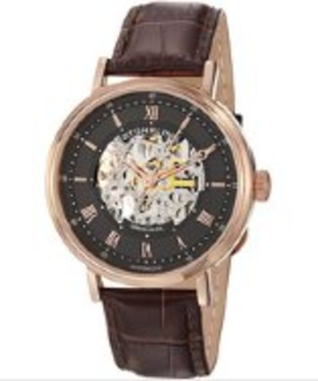 Stuhrling Original Men S Automatic Gray Dial Brown Leather Gifters