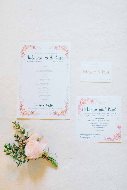 Pink & Gold Winter Wedding at Farnham Castle in Surrey | Pinterest ...