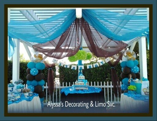 drape blue and brown baby shower google search baby boy shower