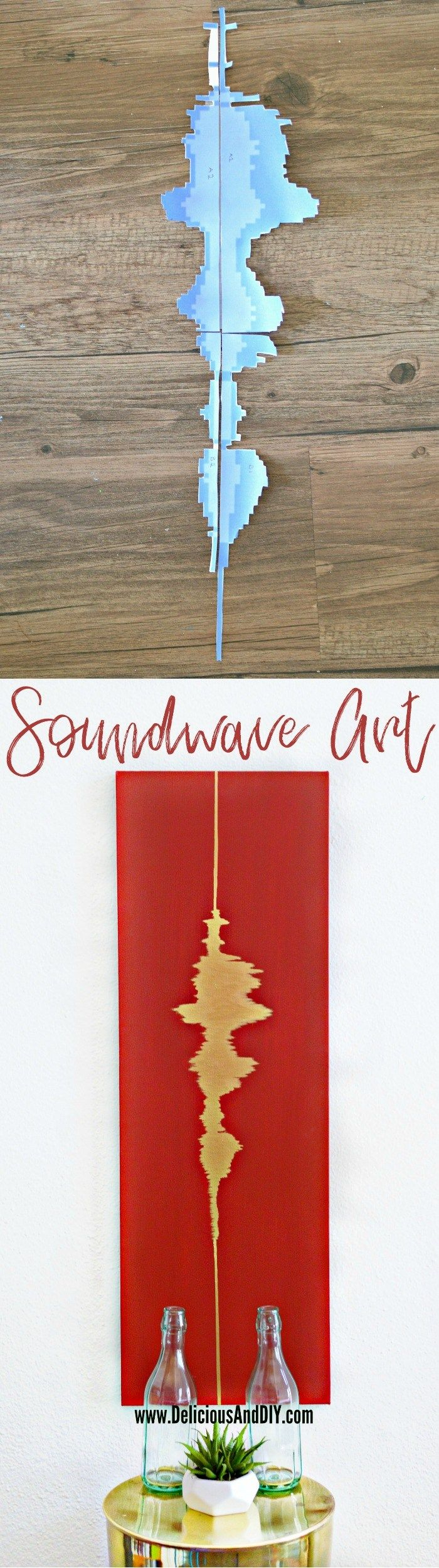 Diy hand painted soundwave wall art best diy pins