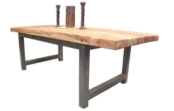 Industrial Rustic Furniture Metal Base Dining Table Metal