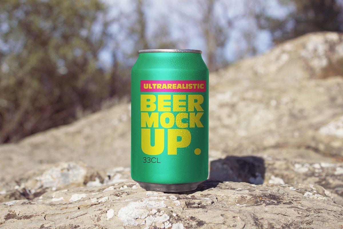Front Beer Can Mockup Beer Can Mockup Design Video Mockup