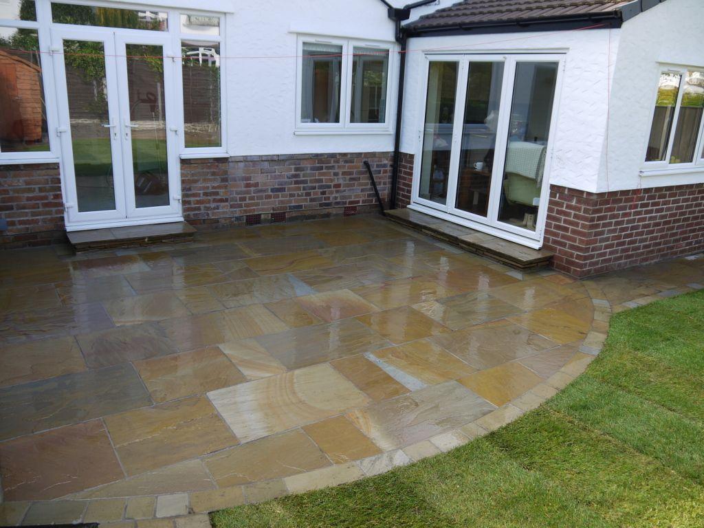Indian sandstone patio liverpool Patio, Patio stones